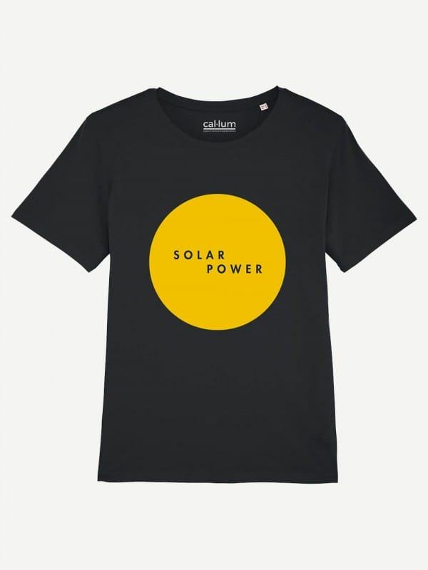 Organic cotton t-shirt Solar Power