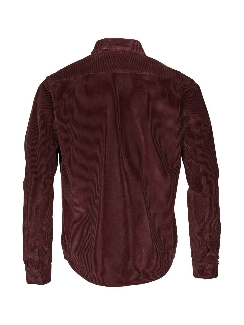 Garnet corduroy jacket with zip