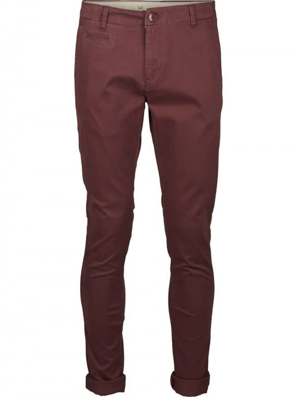 Plain organic cotton garnet trousers