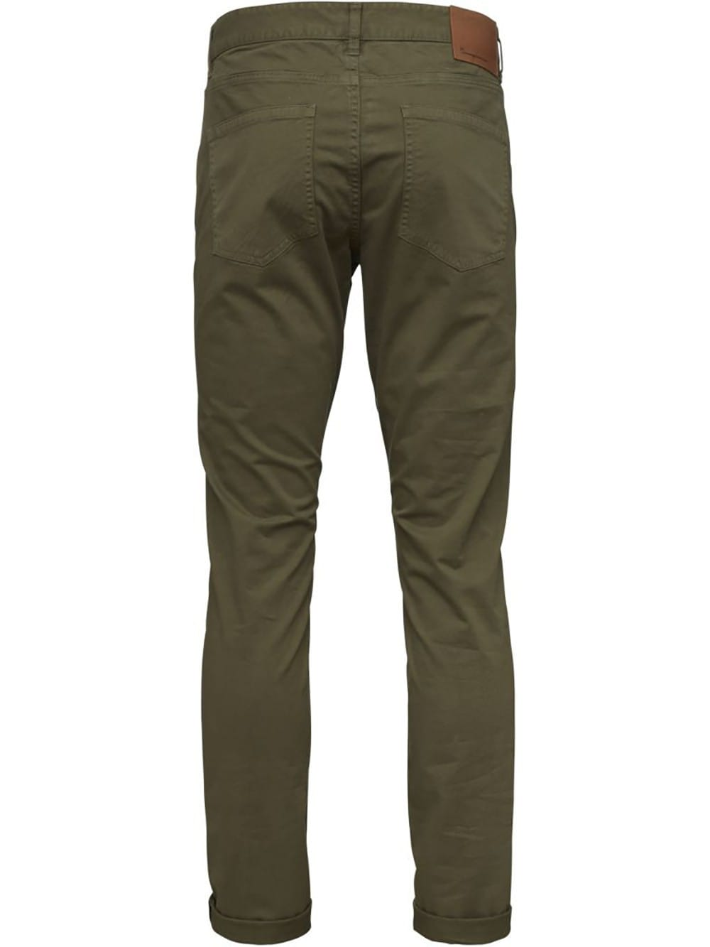 Smooth organic cotton green trousers
