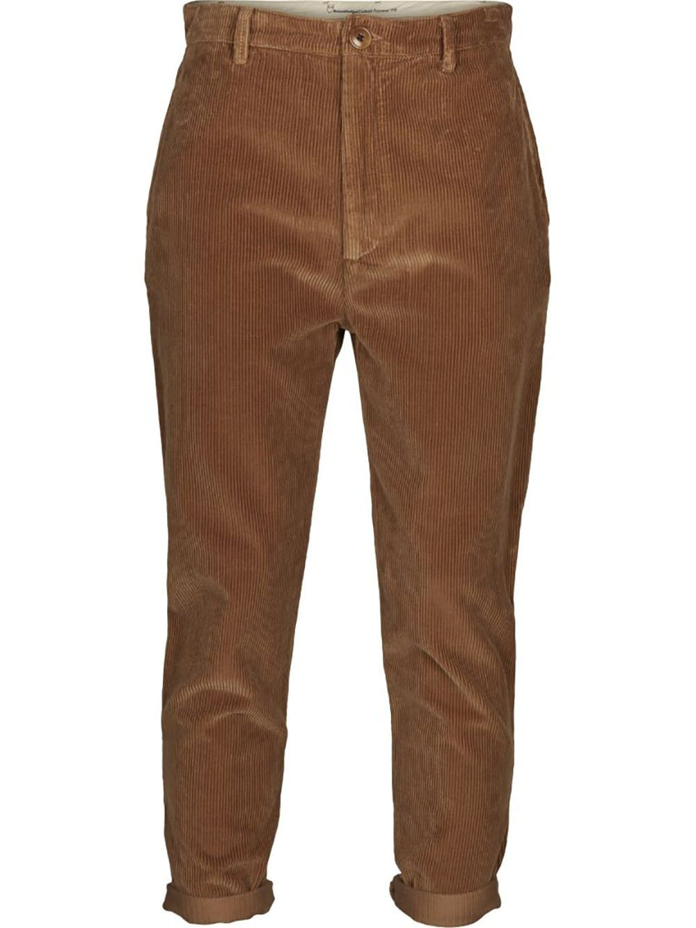 Organic cotton brown corduroy trousers