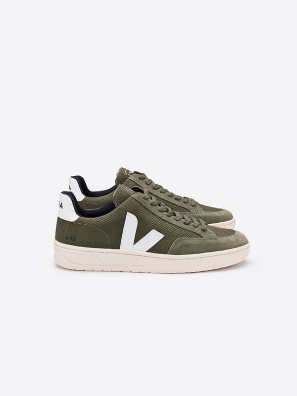 Green sneakers Veja Holiday B-Mesh-Olive White