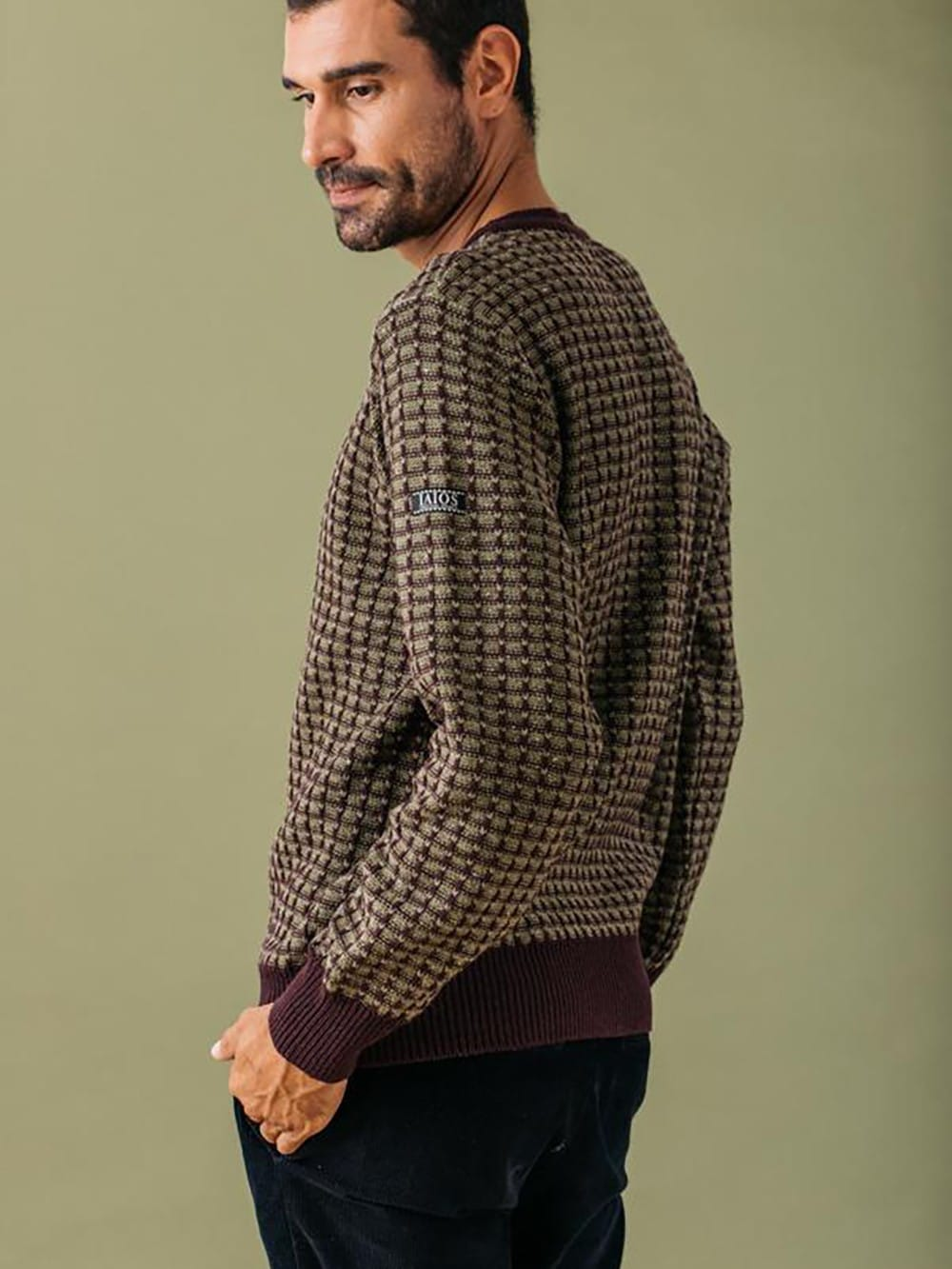 Sweater made with recycled materials-men-La Paca