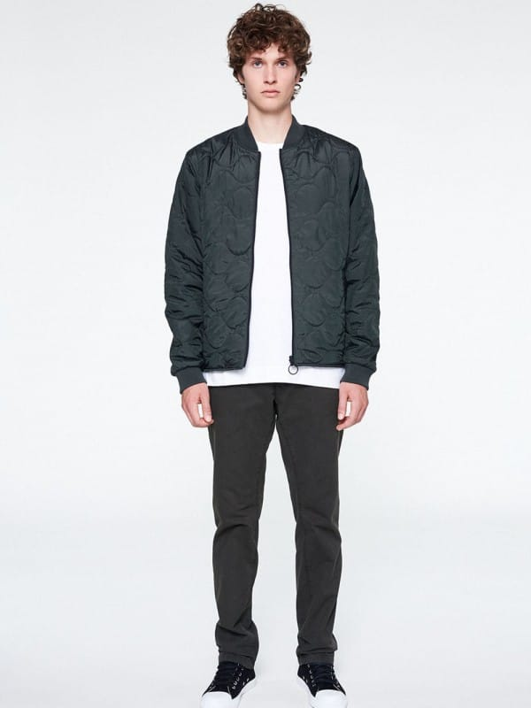 Reversible blue-green recycled polyester jacket-Eric
