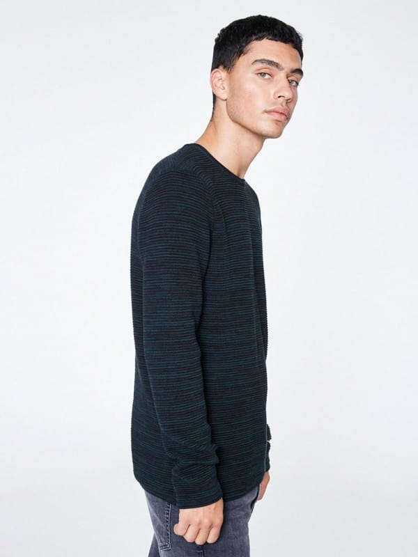 Sweater made of organic cotton-Wes stripes