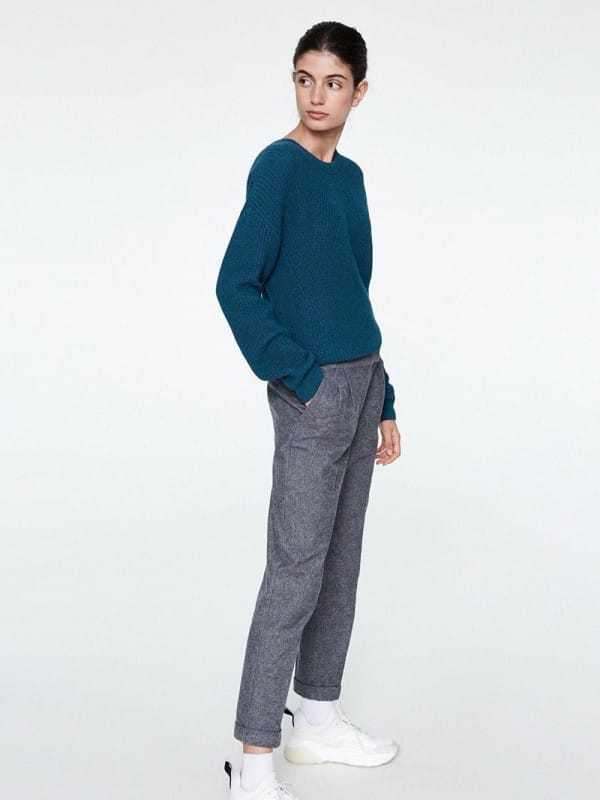 Wide trousers made with organic cotton-Lennon
