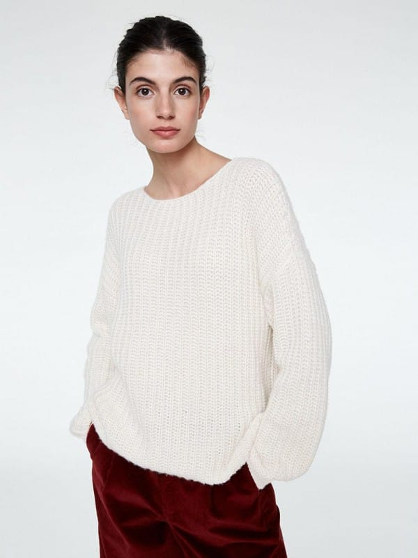 Sweater made of cotton and organic wool-Sadie