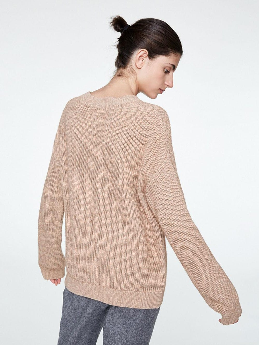 Sweater made of cotton and organic wool-Melin