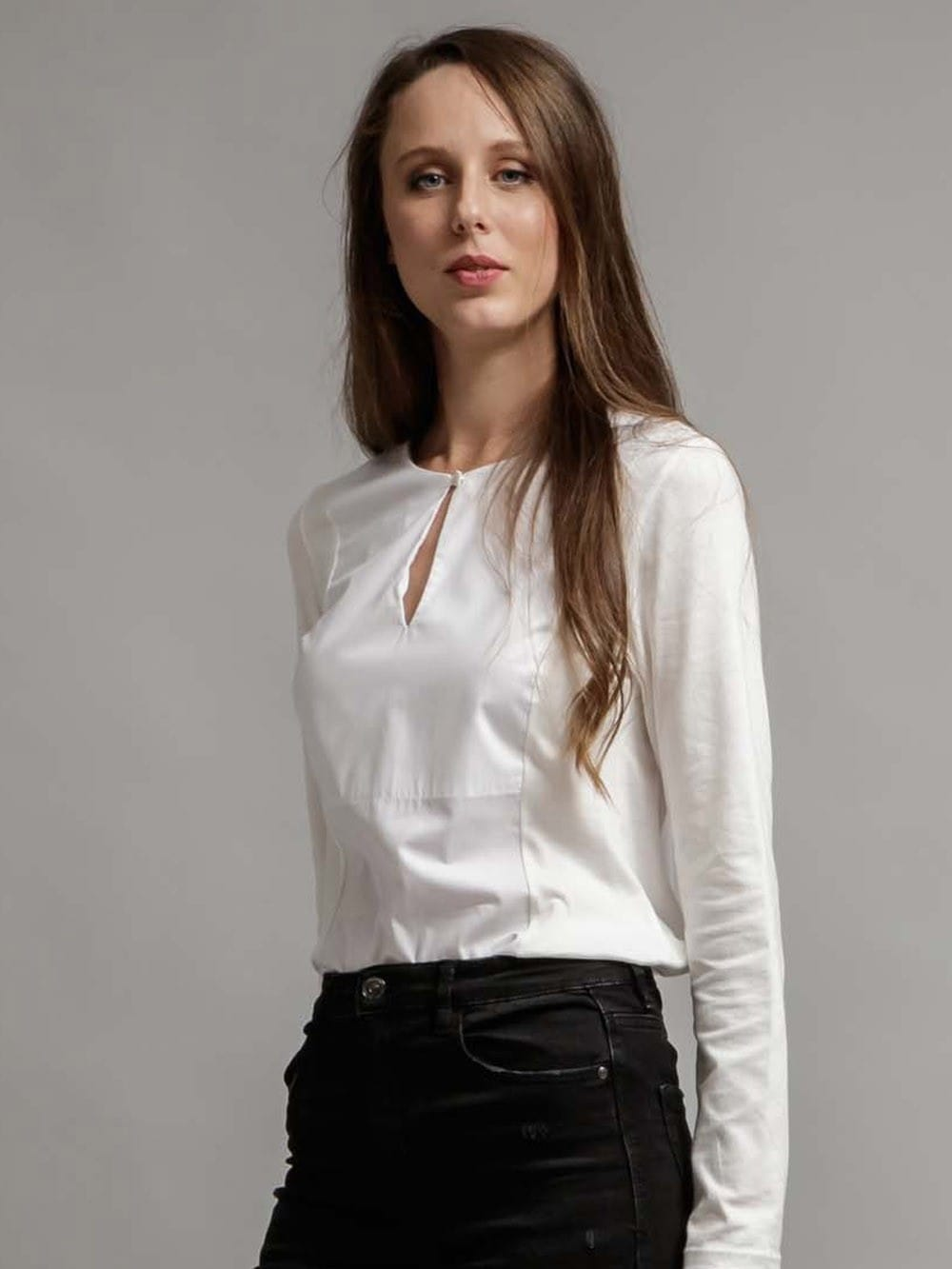 Organic cotton shirt with botton - Niverod