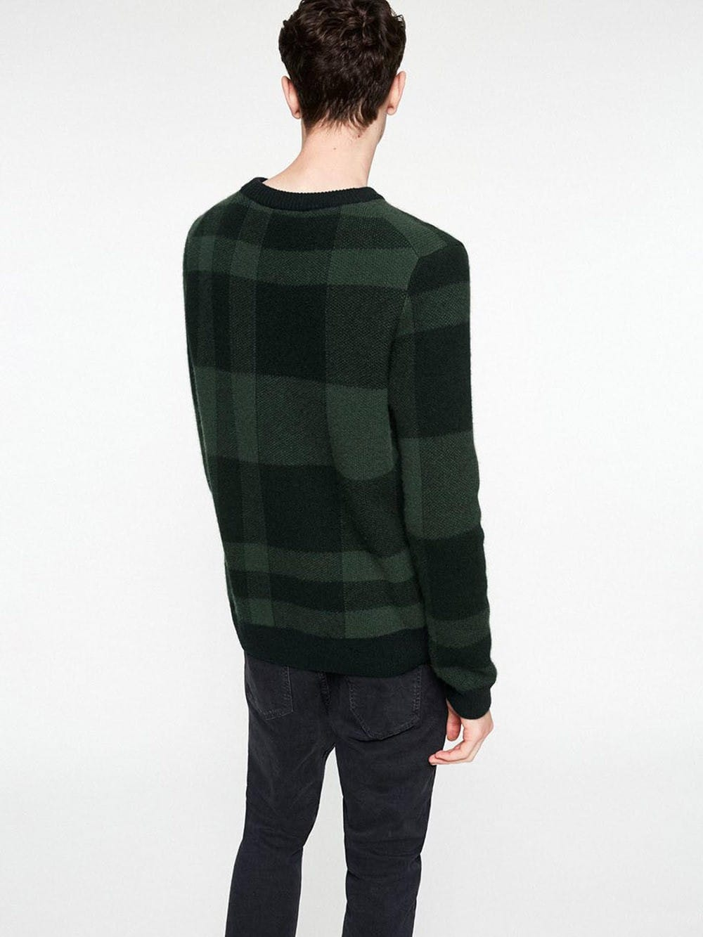 Squared sweater made of organic cotton-Wallace