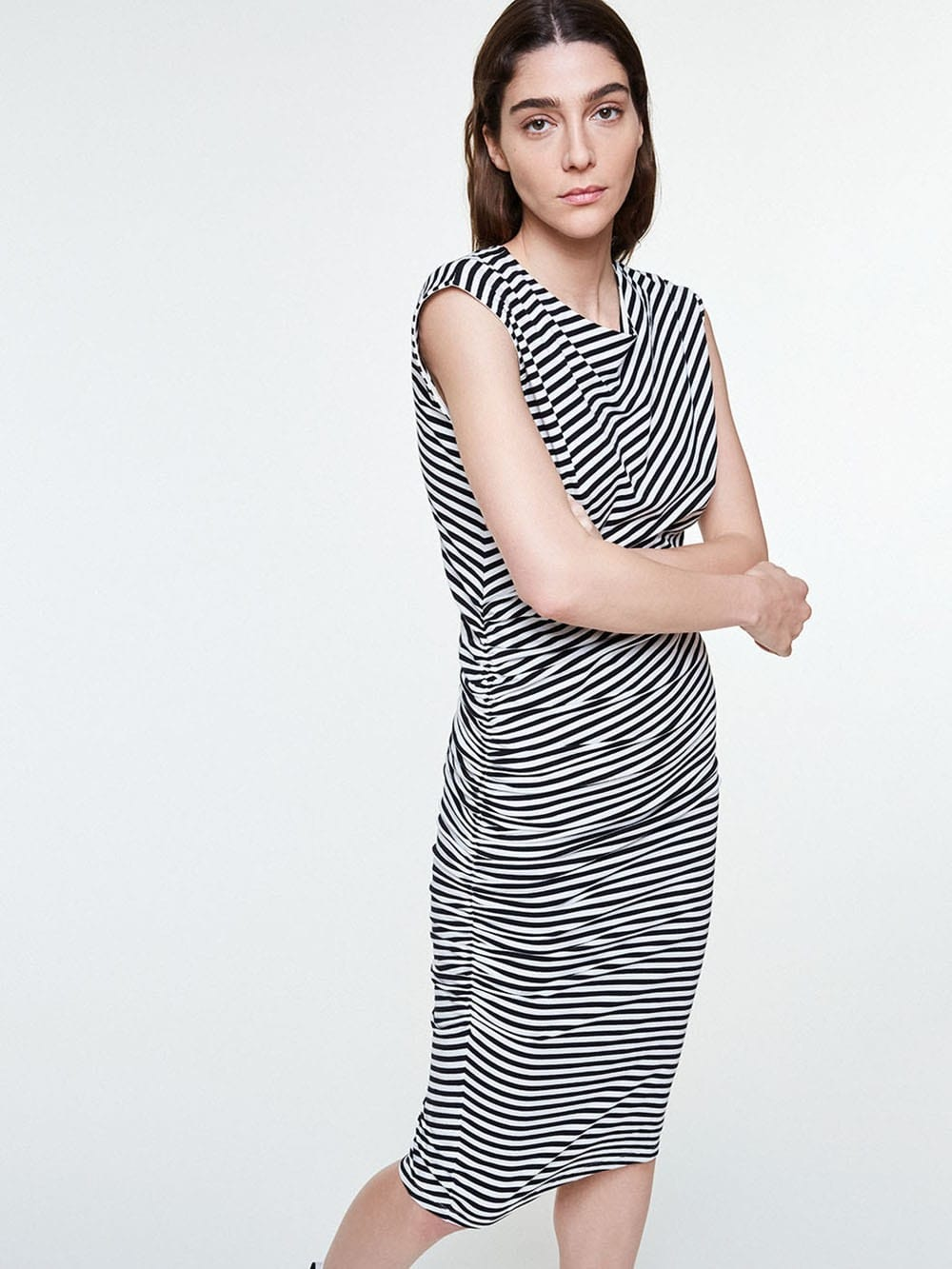06d9a2a5765 Organic cotton sailor stripes dress-Rayeen - VELVET BCN Slow Fashion