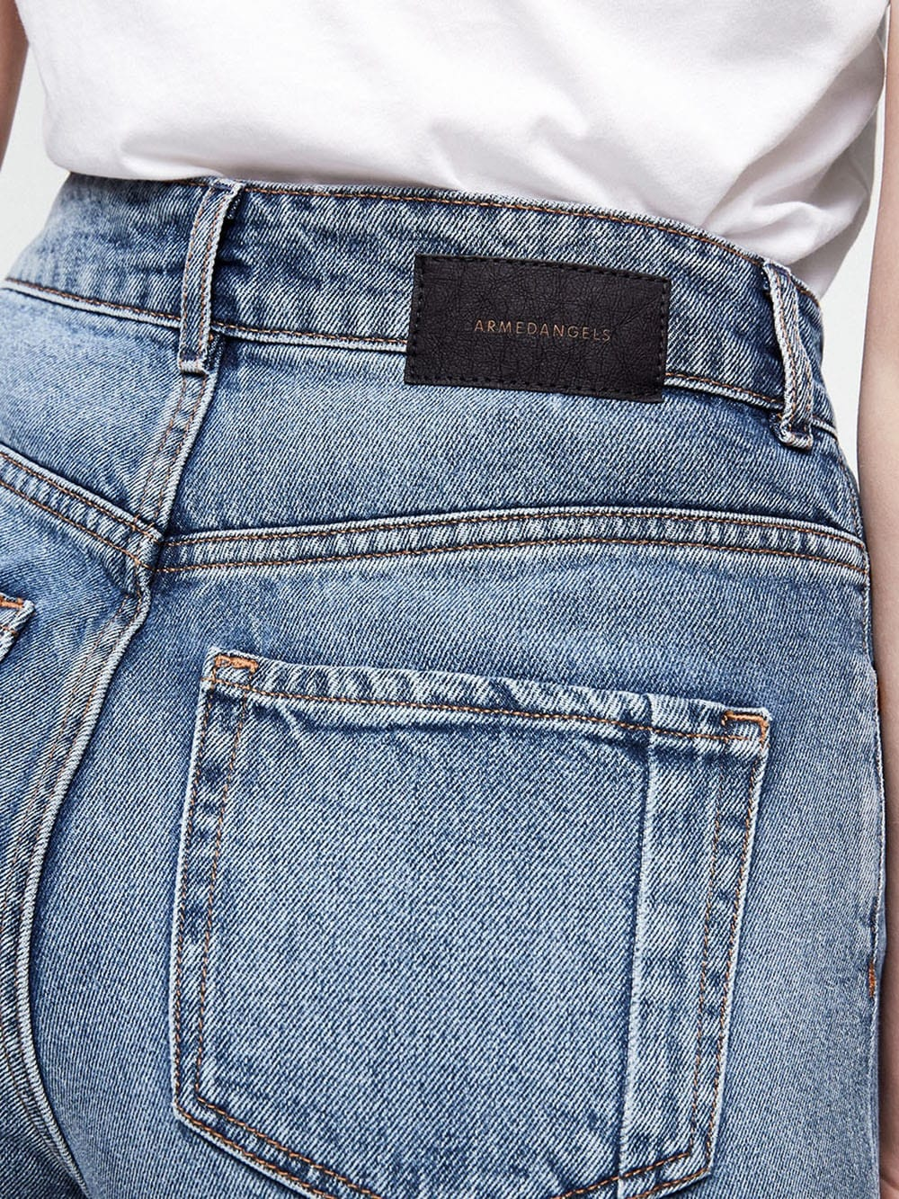 Wide denim trousers made with organic cotton-Montaa