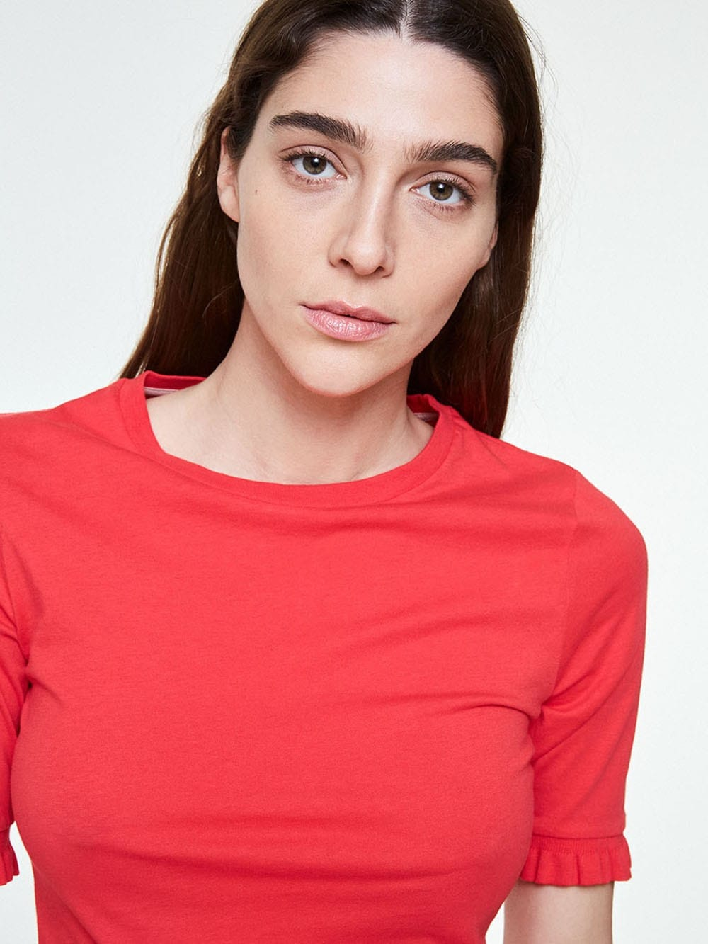 Red organic cotton t-shirt-Sedaa