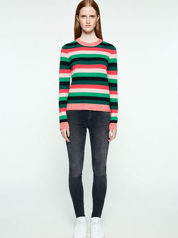 Organic cotton pullover with stripes - Oxana