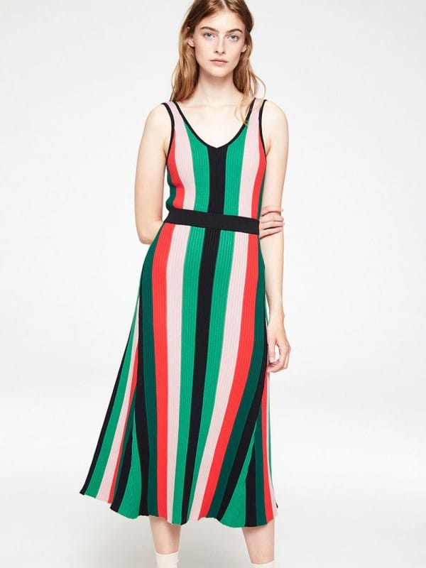 Multi stripes long skirt-Aadina