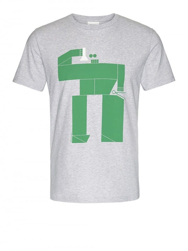 Organic cotton t-shirt-Jaames Robot