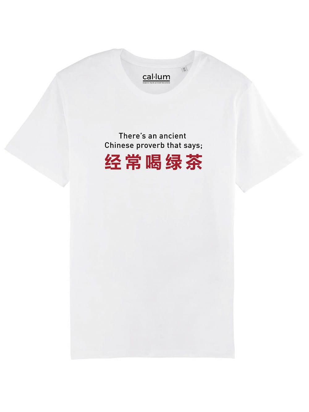 Organic cotton t-shirt Proverb