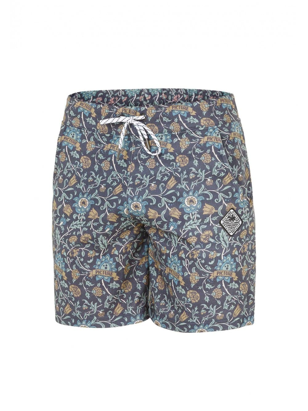 Organic cotton printed shorts-Art Nouveau