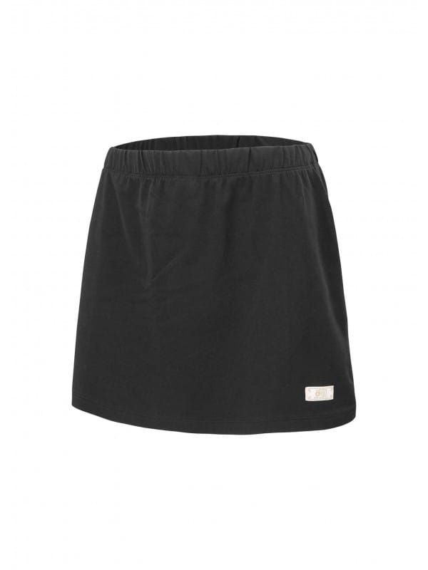 Smooth organic cotton short skirt-Gaby