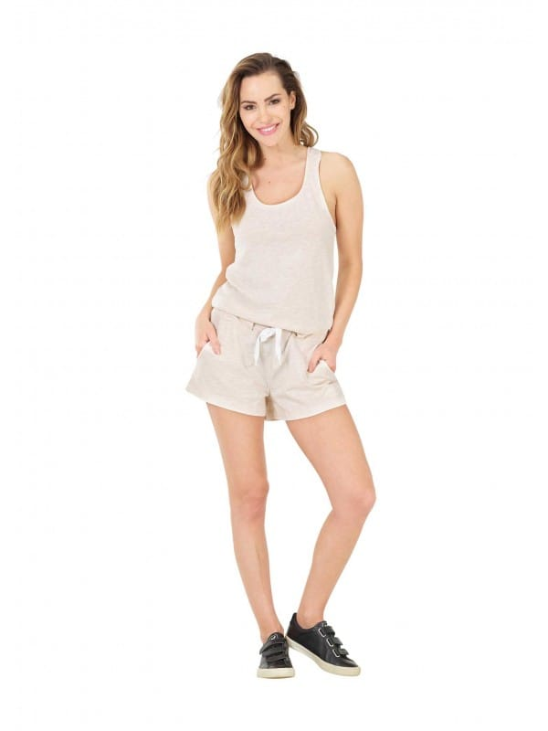 Short jumpsuit tank organic cotton-Abby