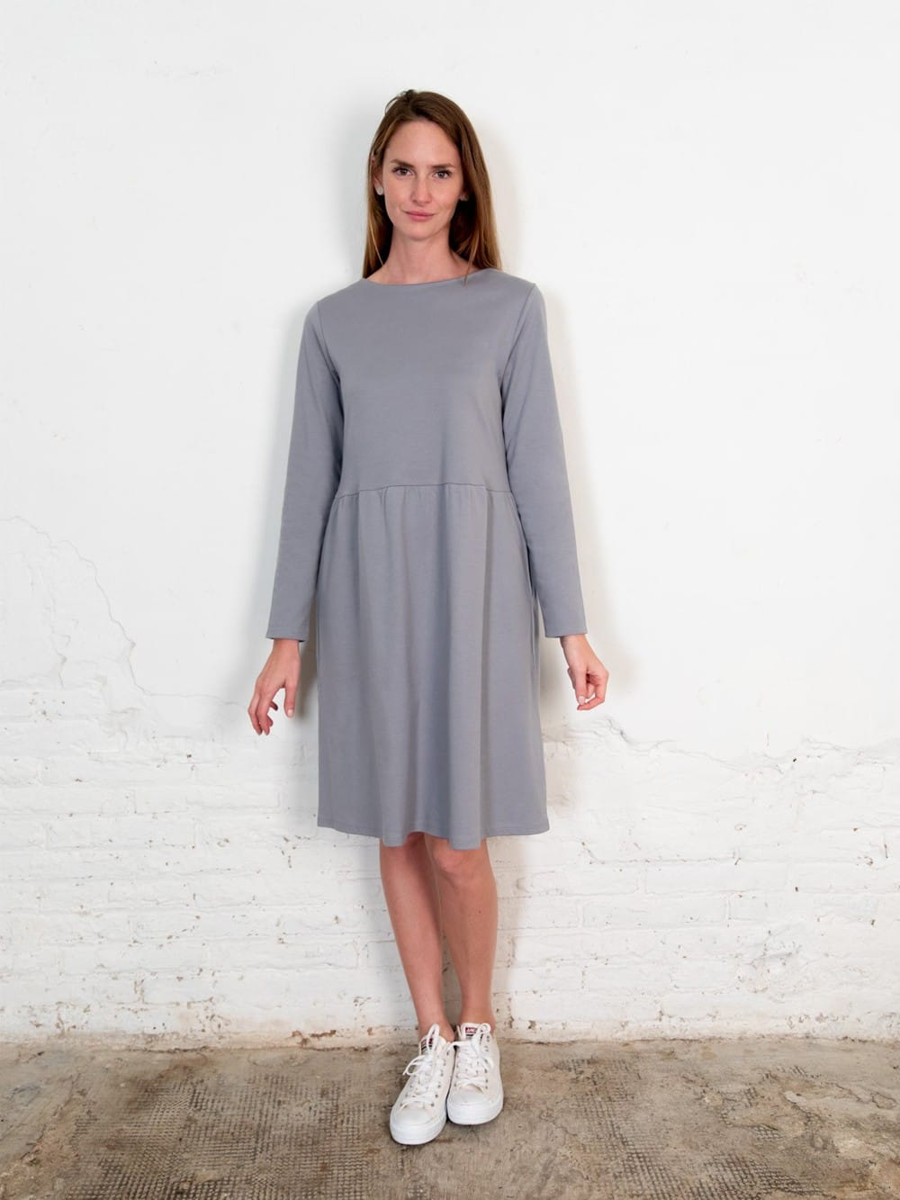 Organic cotton dress with pockets-Annor