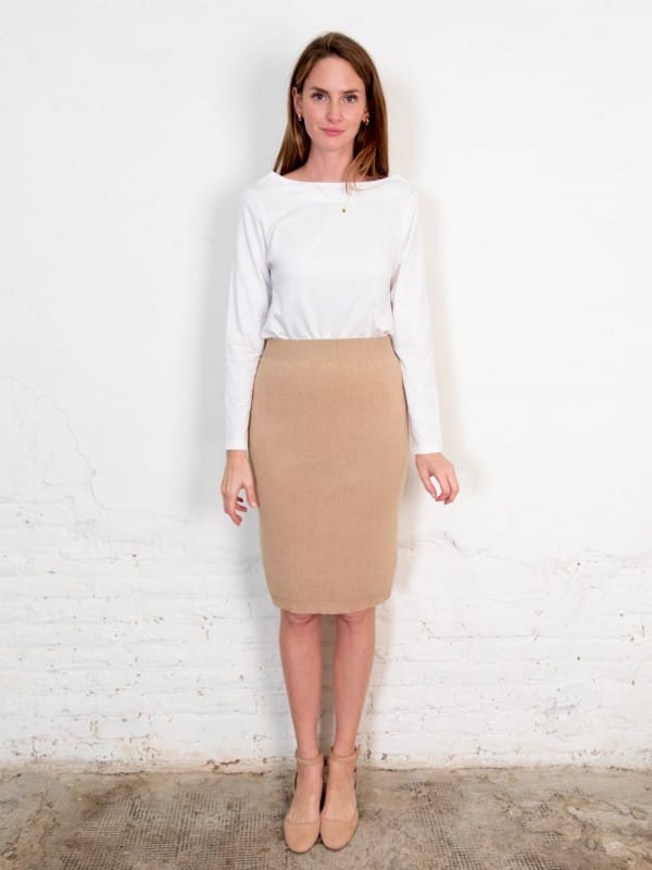 Organic cotton midi tube skirt-Fapun