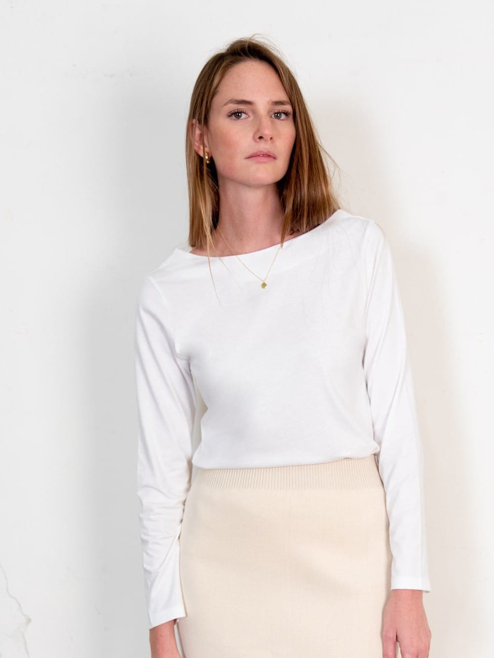 Organic cotton long-sleeved blouse-Blucu