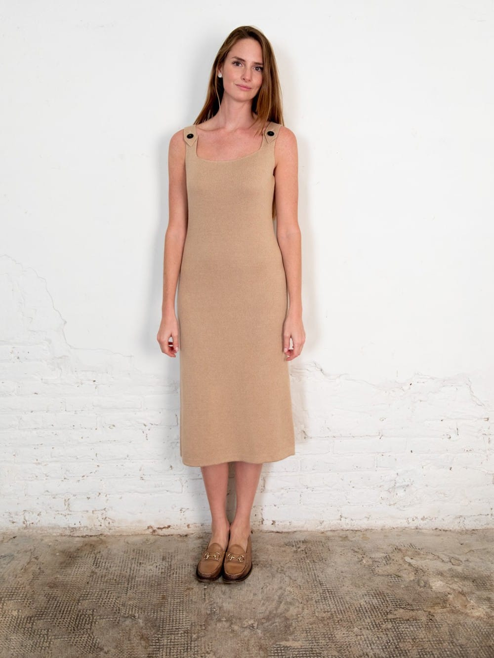 Organic cotton knit dress-Pevic