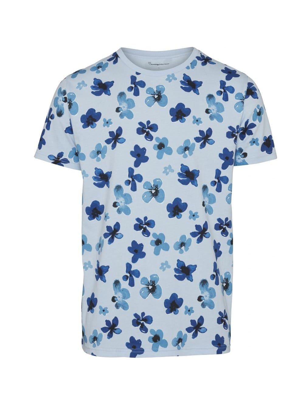 Flowered organic cotton t-shirt