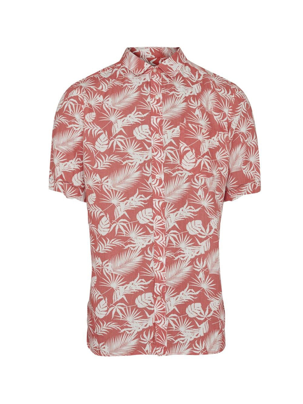 Hawaian organic linen short sleeve shirt