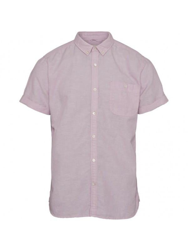 Organic cotton and linen short sleeve shirt