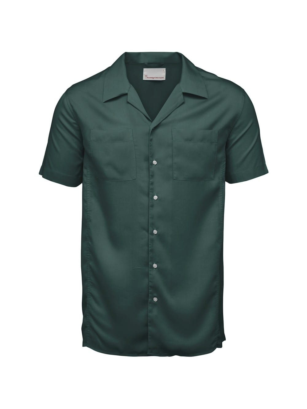 Vegan shirt with short sleeves made of tencel