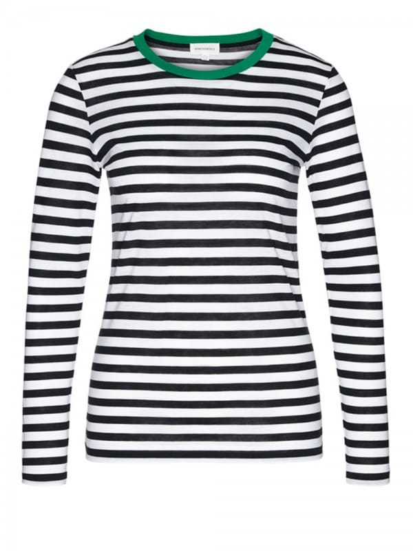 Organic cotton and Tencel sailor stripes t-shirt-Lara Bold