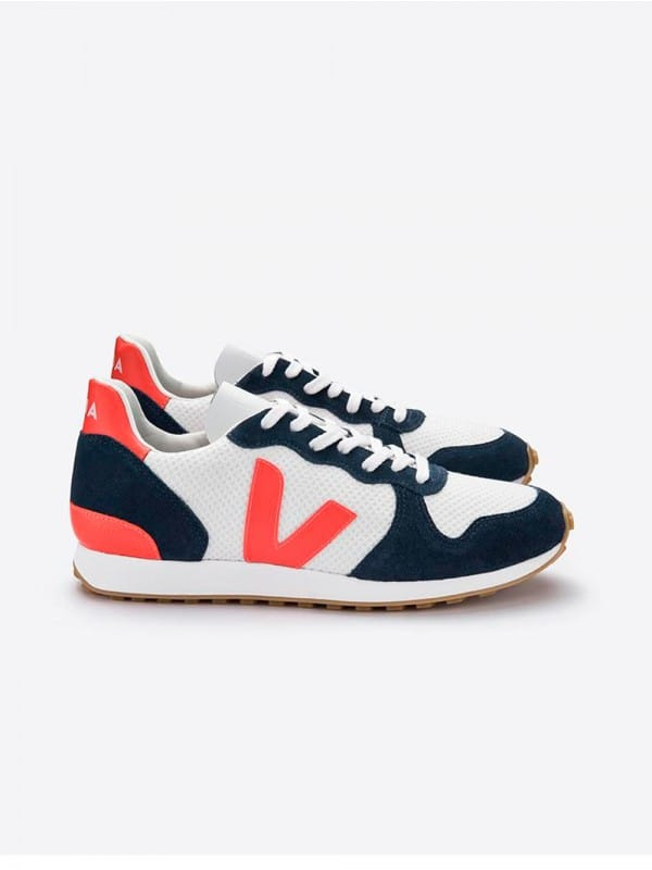 Zapatillas Veja Holiday Rec Hexamesh Arctic Nautico Orange Fluo