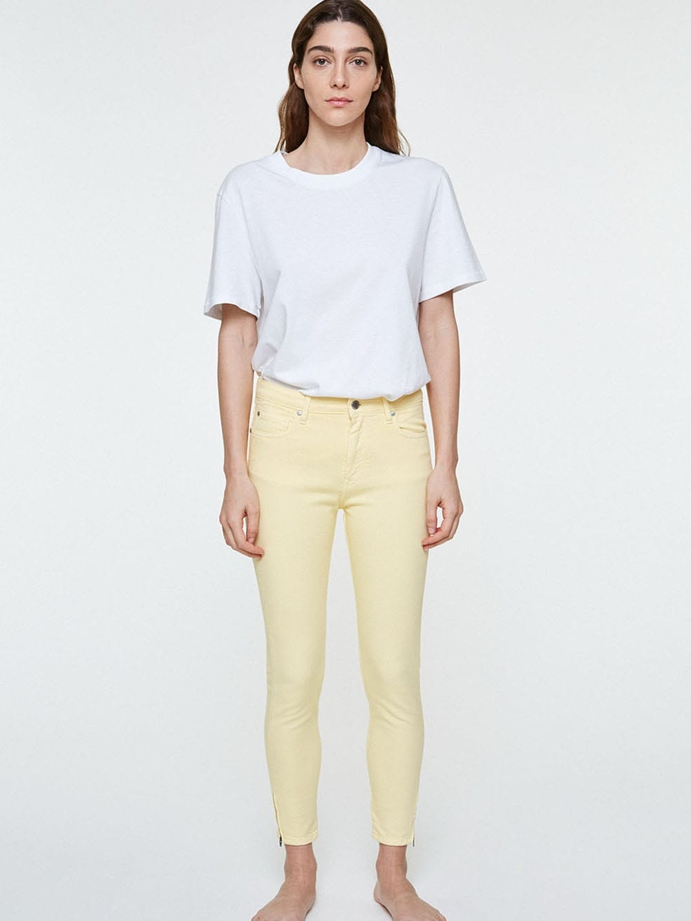 Yellow organic cotton pants-Tillaa
