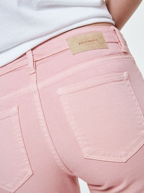 Pink organic cotton pants-Tillaa