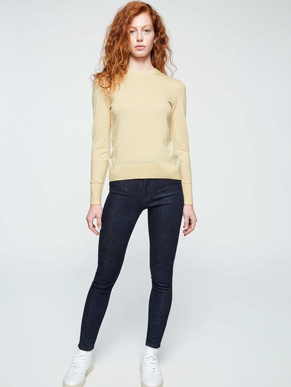 Organic cotton and Tencel plain sweater-Alice