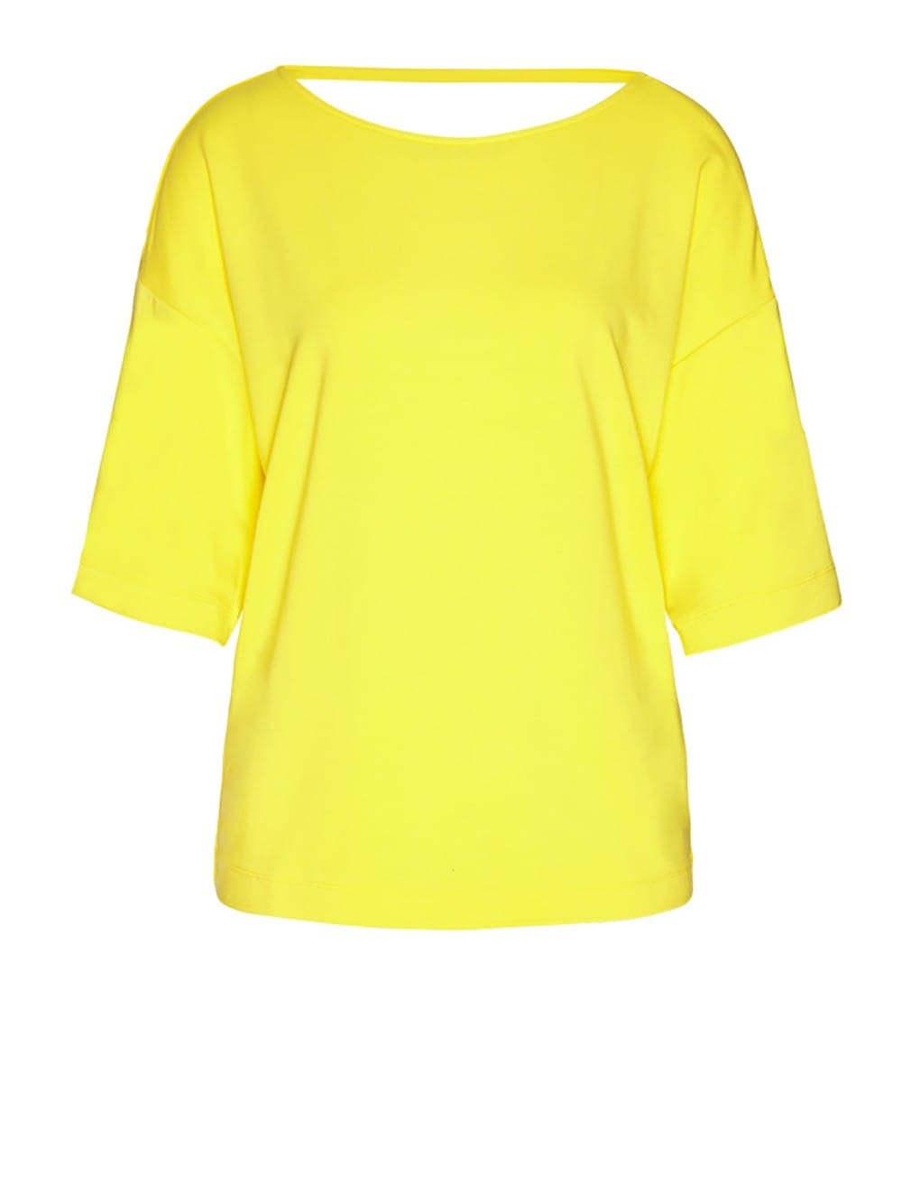 Natural viscose short sleeve top-Cleaa