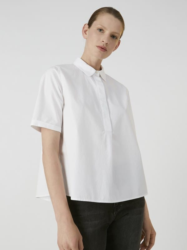Organic cotton plain shirt-Saimaa