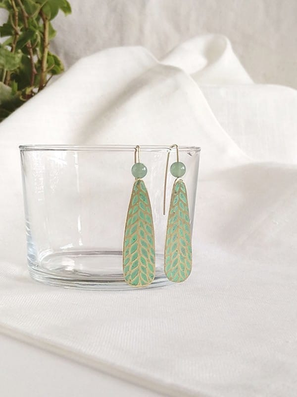Handmade brass earrings-Semipreciosa