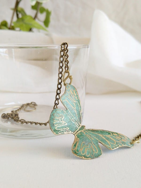 Handmade copper pendant-Butterfly