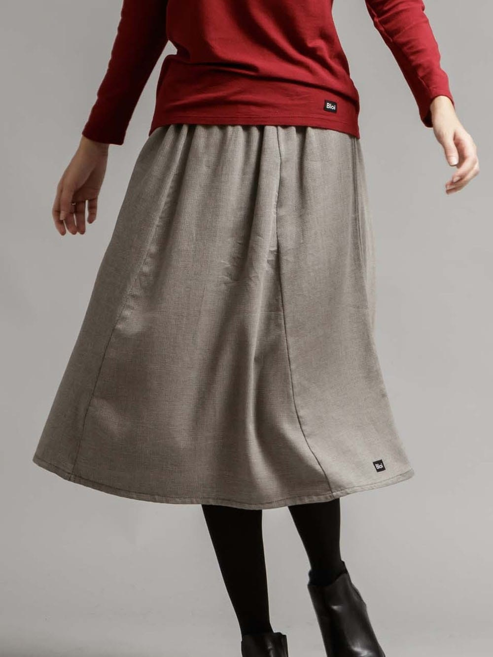 Organic cotton midi skirt-Brich