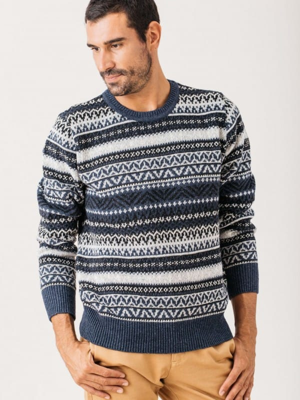 Recycled yarn sweater - WHITMAN