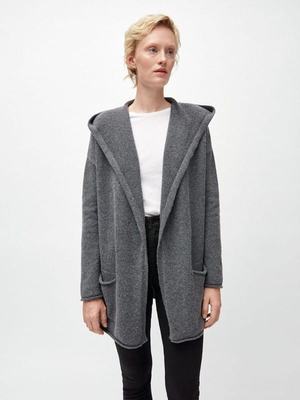 Organic wool and cotton cardigan-Valdaa