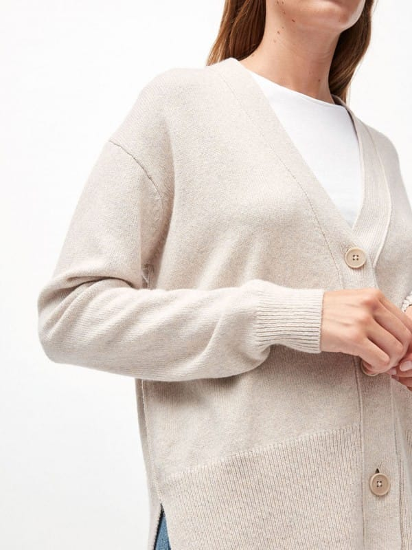 Organic wool and cotton cardigan-Olenkaa
