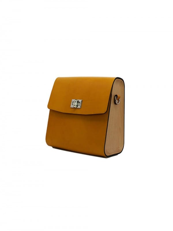 Wood and leather bag-Big Shoulder