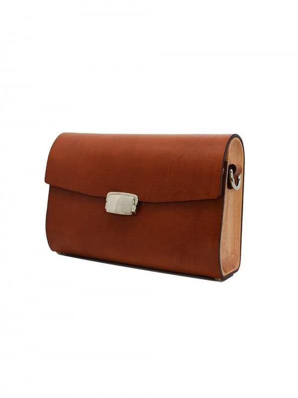 Wood and leather bag-Small Shoulder