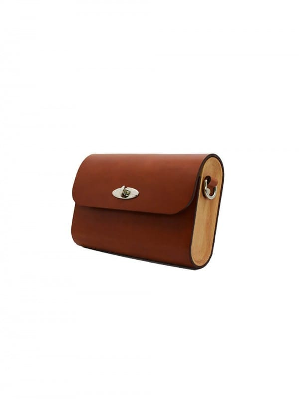 Wood and Leather Ri-Belt Bag