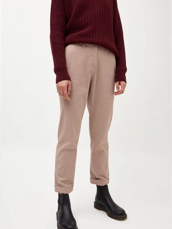 Organic cotton straight trousers-Hella