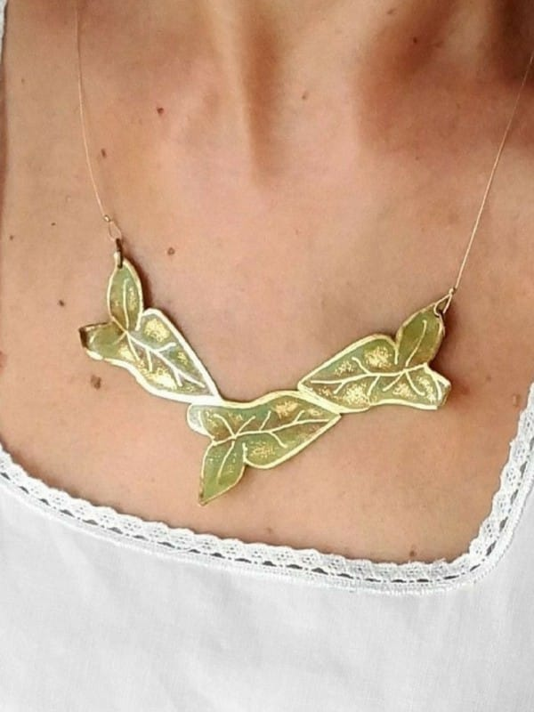 Handmade Ivy Brass Necklace